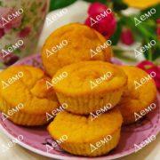 Творожные кексы с тыквой