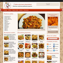 Тема для wordpress Cooking Secrets